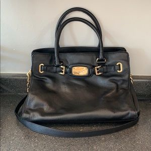 Large black Michael Kors satchel